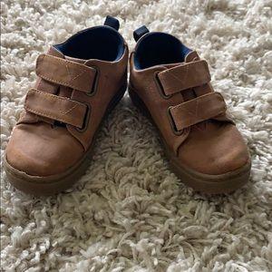 TOM tan suede kids dress shoe